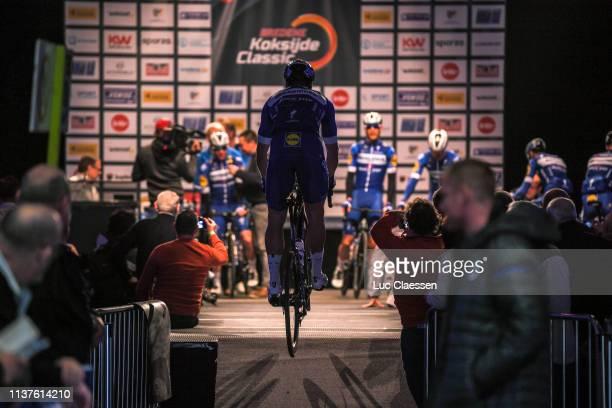 Start / Alvaro Jose Hodeg Chagui of Colombia and Team Deceuninck QuickStep / Remco Evenepoel of Belgium and Team Deceuninck QuickStep / Remi Cavagna...