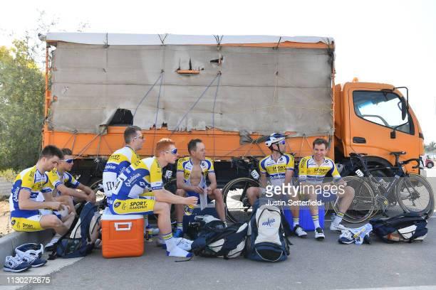 Start / Amaury Capiot of Belgium and Team Sport VlaanderenBaloise / Piet Allegaert of Belgium and Team Sport VlaanderenBaloise / Benjamin Declercq of...