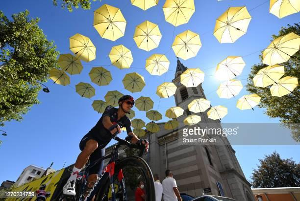 Start / Andrey Amador Bikkazakova of Costa Rica and Team INEOS Grenadiers / Gap Village / Yellow Umbrellas / during the 107th Tour de France 2020,...