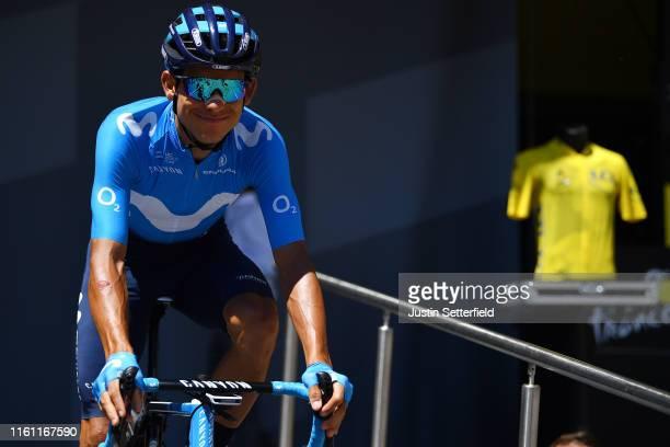 Start / Andrey Amador of Costa Rica and Movistar Team / SaintDiédesVosges City / during the 106th Tour de France 2019 Stage 5 a 1755km stage from...