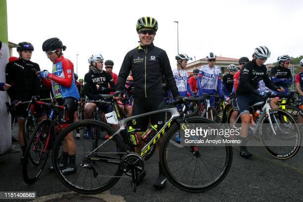 Start / Ane Santesteban of Spain and WNT Rotor Pro Cycling Team Green Best Basque Rider Jersey / Amanda Spratt of Australia and Team Mitchelton Scott...