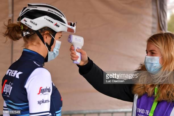 Start / Anna Plichta of Poland and Team Trek- Segafredo / Temperature control / Covid safety measures / Team Presentation / during the 3rd Driedaagse...