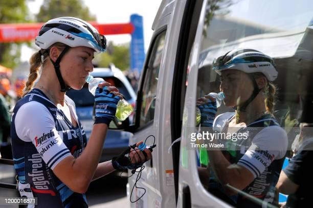 Start / Anna Plichta of Poland and Team Trek-Segafredo / Refreshment / during the 6th Santos Women's Tour Down Under 2020, Stage 2 a 114,9km stage...