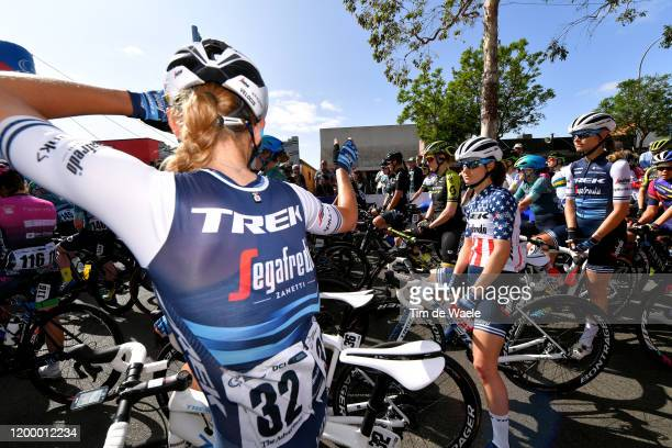 Start / Anna Plichta of Poland and Team Trek-Segafredo / Ruth Winder of The United States and Team Trek-Segafredo / Tayler Wiles of The United States...