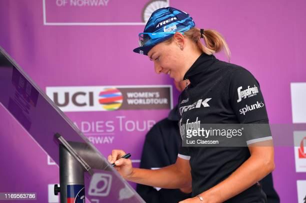 Start / Anna Plichta of Poland Team Trek-Segafredo Women / Sing In / during the 6th Ladies Tour of Norway 2019, Stage 1 a 128km stage from...