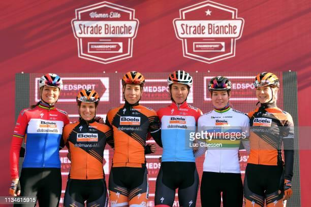 Start / Anna van der Breggen of The Netherlands and Boels Dolmans Cyclingteam / Chantal Blaak of The Netherlands and Boels Dolmans Cyclingteam /...