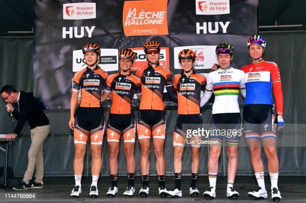 Start / Anna van der Breggen of The Netherlands and Boels Dolmans Cycling Team / Chantal Blaak of The Netherlands and Boels Dolmans Cycling Team /...