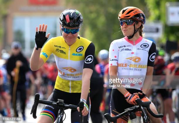 / Start / Anna Van Der Breggen of The Netherlands and Boels Dolmans Cycling Team / Katharine Hall of The United States and Boels Dolmans Cycling Team...