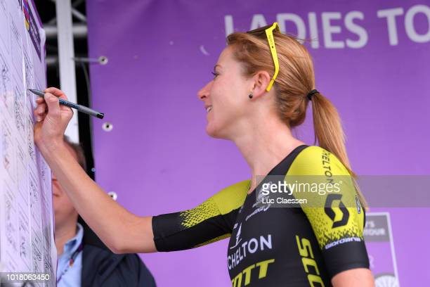 Sprint / Arrival / Marianne Vos of The Netherlands and Team WaowDeals Pro Cycling / Emilia Fahlin of Sweden and Team Wiggle High5 / Coryn Rivera of...