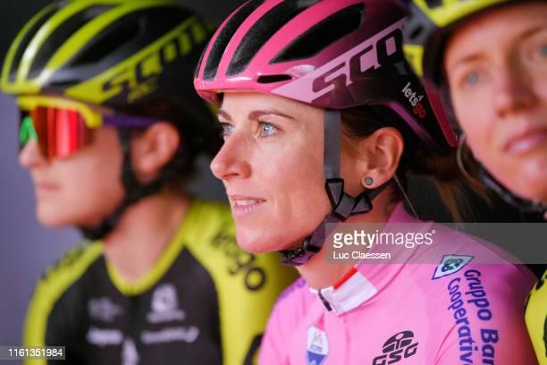 Start / Annemiek Van Vleuten of The Netherlands and Team Mitchelton Scott Pink Leader Jersey / Team Presentation / during the 30th Tour of Italy 2019...