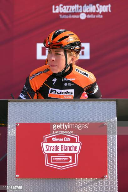 Start / Annika Langvad of Denmark and Boels Dolmans Cyclingteam / Team Presentation / during the 5th Strade Bianche 2019, Women a 136km race from...