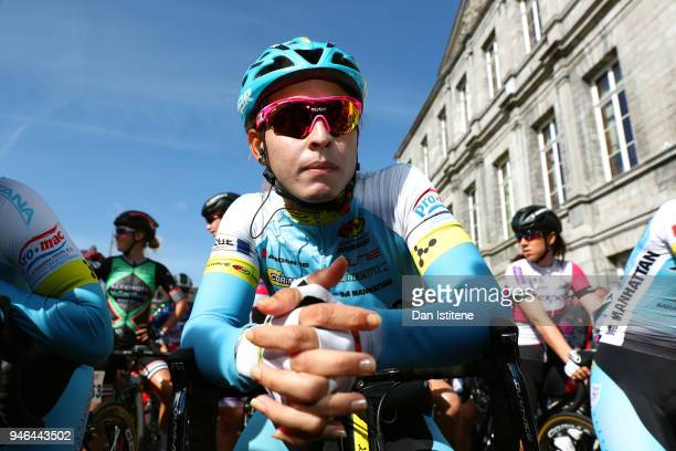 Start / Arlenis Sierra of Cuba and Astana Women's Team / during the 5th Amstel Gold Race 2018 a 116,9km women's race from Maastricht to Berg En...