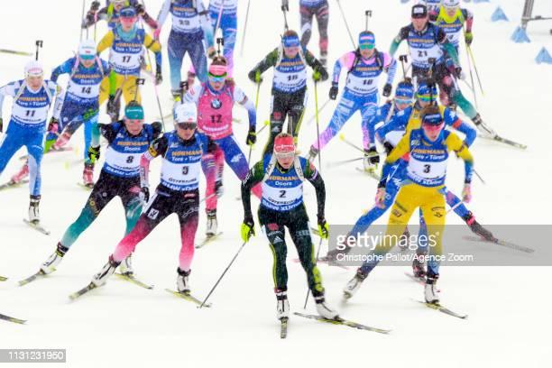 Start at the start during the IBU Biathlon World Championships Men's and Women's Mass Start on March 17, 2019 in Oestersund, Sweden.