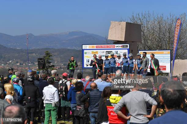 Start / Audrey Cordon-Ragot of France and Team Trek- Segafredo / Elisa Longo Borghini of Italy and Team Trek- Segafredo / Jolanda Neff of Switzerland...