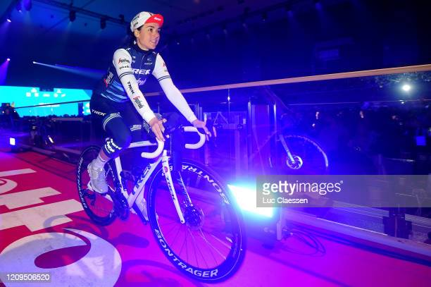Start / Audrey Cordon-Ragot of France and Team Trek- Segafredo / Kuipke Velodrome / Team Presentation / during the 75th Omloop Het Nieuwsblad 2020,...