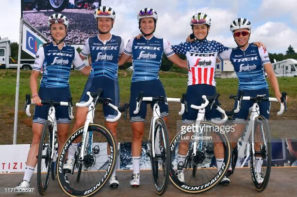 Start / Audrey Cordon-Ragot of France and Team Trek- Segafredo / Trixi Worrack of Germany and Team Trek- Segafredo / Elisa Longo Borghini of Italy...