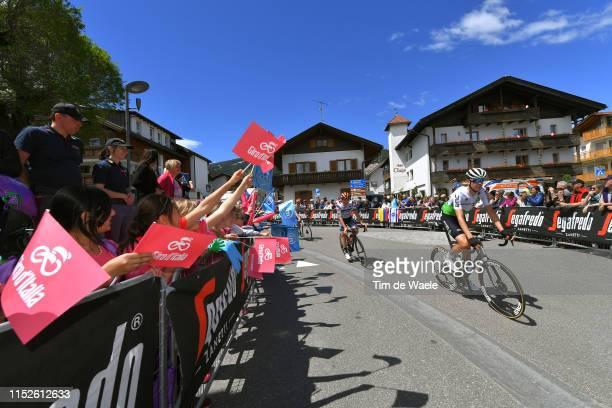 Start / Ben O'Connor of Australia and Team Dimension Data / Valdaora Village / Fans / Public / Children / during the 102nd Giro d'Italia 2019, Stage...