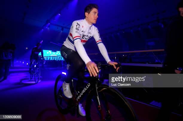 Start / Ben Swift of United Kingdom and Team INEOS / Kuipke Velodrome / Team Presentation / during the 75th Omloop Het Nieuwsblad 2020 Men Race a...