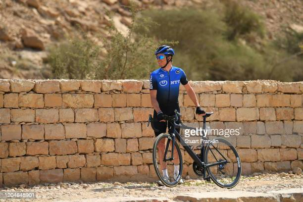 Start / Benjamin King of The United States and Team NTT Pro Cycling / Wadi Namar Park / during the 1st Saudi Tour 2020, Stage 4 a 137km stage from...