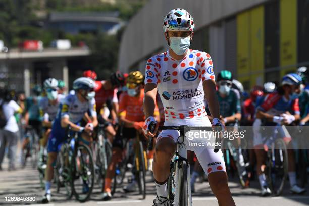 Start / Benoit Cosnefroy of France and Team Ag2R La Mondiale Polka Dot Mountain Jersey / Nice City / during the 107th Tour de France 2020, Stage 3 a...