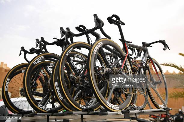 Start / BMC Bike / Team NTT Pro Cycling / Sadus Castle / Detail view / during the 1st Saudi Tour 2020 Stage 2 a 187km stage from Sadus Castle to Al...