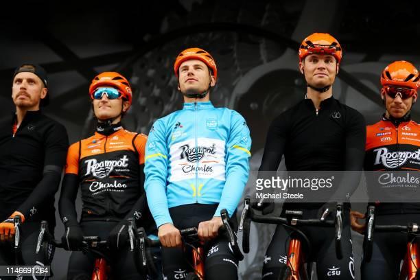 Start / Boy Van Poppel of Netherlands and Team Roompot-Charles /Nick Van Der Lijke of Netherlands and Team Roompot-Charles / Jesper Asselman of...