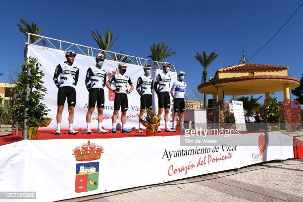 Start / Carlos Barbero of Spain, Sean Bennett of The United States, Victor Campenaerts of Belgium, Giacomo Nizzolo of Italy, Matteo Pelucchi of...