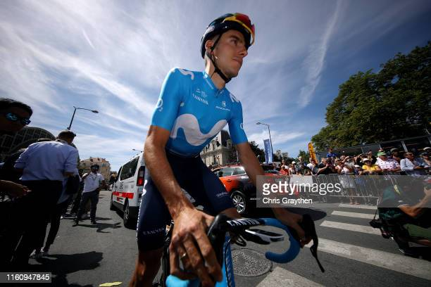Start / Carlos Verona of Spain and Movistar Team / during the 106th Tour de France 2019 Stage 4 a 2135km stage from Reims to Nancy / TDF / #TDF2019 /...