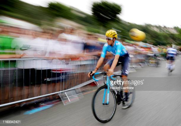 Start / Carlos Verona of Spain and Movistar Team / Limoux City / during the 106th Tour de France 2019 Stage 15 a 185 km stage from Limoux to Foix...