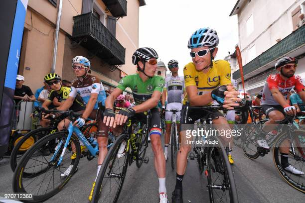Start / Carlos Verona of Spain and Team MitcheltonScott / Alexis Gougeard of France and Team AG2R La Mondiale / Daryl Impey of South Africa and Team...