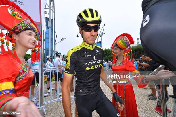 Start / Carlos Verona Quintanilla of Spain and Team MitcheltonScott / Traditional Chinese Custom / during the 2nd Tour of Guangxi 2018 Stage 2 a...