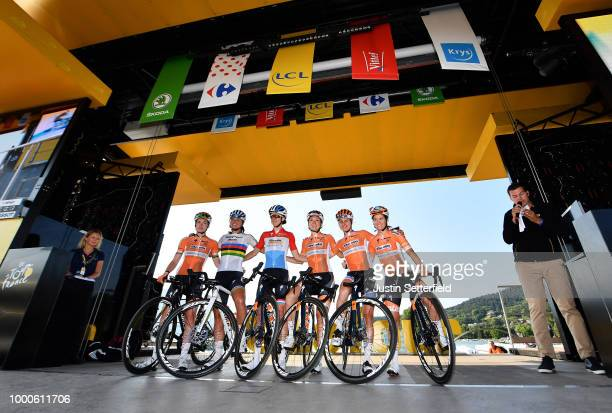 Start / Chantal Blaak of The Netherlands / Karol Ann Canuel of Canada / Megan Guarnier of The United States / Christine Majerus of Luxembourg / Amy...
