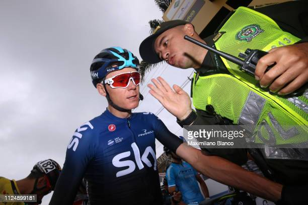 Start / Chris Froome of Great Britain and Team Sky / during the 2nd Tour of Colombia 2019, Stage 3 a 167,7km stage from Complex Llanogrande to...