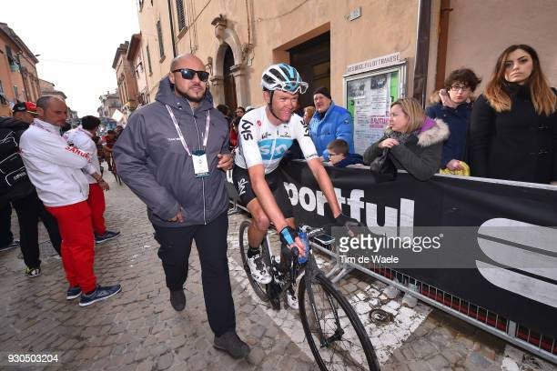 Start / Chris Froome of Great Britain / Fans / Public / during the 53rd TirrenoAdriatico 2018 Stage 5 a 178km stage from Castelraimondo to Filottrano...