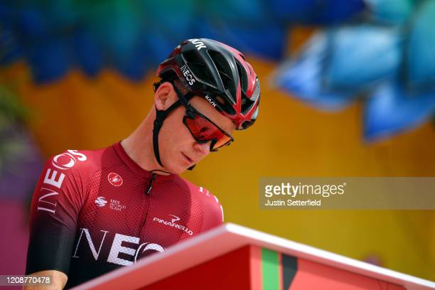 Start / Chris Froome of The United Kingdom and Team INEOS / Sing In / Team Presentation / during the 6th UAE Tour 2020, Stage 4 a 173km stage from...