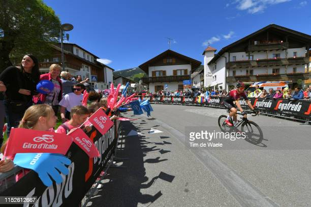Start / Christian Knees of Germany and Team INEOS / Valdaora Village / Fans / Public / Children / during the 102nd Giro d'Italia 2019, Stage 18 a...