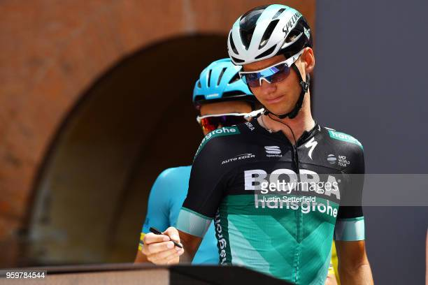 Start / Christoph Pfingsten of Germany and Team Bora-Hansgrohe / during the 101st Tour of Italy 2018, Stage 13 a 180km stage from Ferrara to Nervesa...