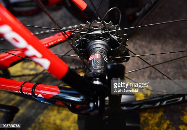 Start / Christophe Laporte of France and Team Cofidis / Cassete / Detail View / during the 105th Tour de France 2018 Stage 8 a 181km stage from Dreux...