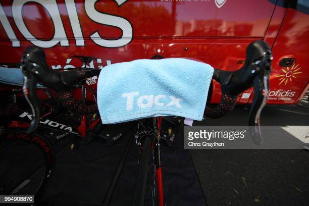 Start / Christophe Laporte of France and Team Cofidis / Handlebars / Kuota Bike / Tacx towel / during the 105th Tour de France 2018 Stage 3 a 355km...