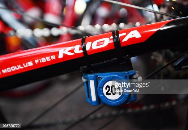 Start / Christophe Laporte of France and Team Cofidis / Kuota Bike / Detail View / during the 105th Tour de France 2018 Stage 8 a 181km stage from...