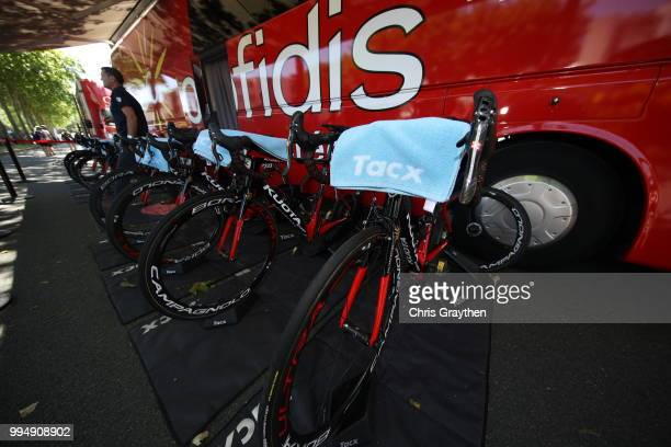 Start / Christophe Laporte of France and Team Cofidis / Tacx Roller / Kuota Bike / Tacx towel / during the 105th Tour de France 2018 Stage 3 a 355km...