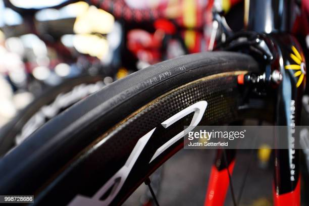 Start / Christophe Laporte of France and Team Cofidis / Wheel /Rim / Tire / Kuota Bike / Detail View / during the 105th Tour de France 2018 Stage 8 a...