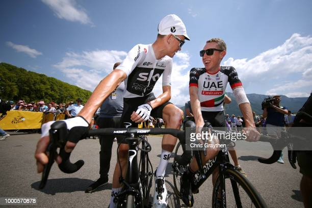 Start / Christopher Froome of Great Britain and Team Sky / Daniel Martin of Ireland and UAE Team Emirates / during the 105th Tour de France 2018 /...