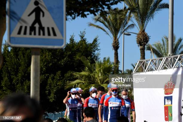 Start / Christopher Lawless of The United Kingdom, Lorrenzo Manzin of France, Adrien Petit of France, Cristian Rodriguez of Spain and Team, Geoffrey...