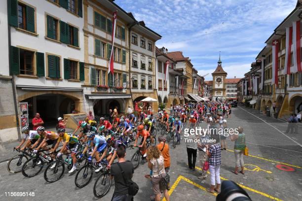 Start / Claudio Imhof of Switzerland and Team Switzerland King of Mountain Jersey / Peter Sagan of Slovakia and Team Bora-Hansgrohe Yellow Leader...
