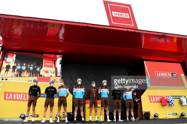 Start / Clement Champoussin of France Mathias Frank of Switzerland Alexandre Geniez of France Dorian Godon of France Nans Peters of France Harry...