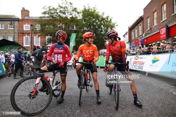 Start / Coryn Rivera of The United States and Team Sunweb / Marianne Vos of The Netherlands and Team CCC Liv / Katarzyna Niewiadoma of Poland and...