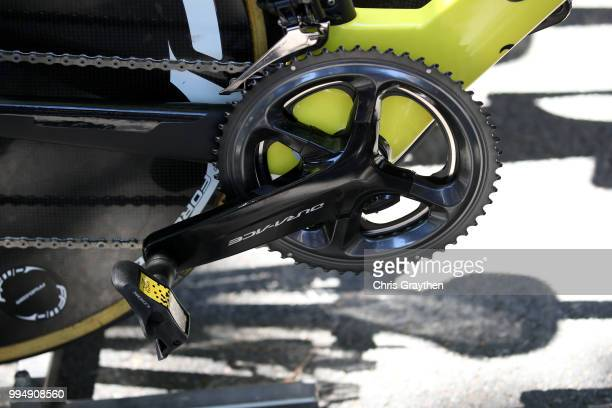 Start / Crankset / Pedal / Chain / Team Direct Energie of France / Detail View / Wilier Bike / during the 105th Tour de France 2018, Stage 3 a 35,5km...