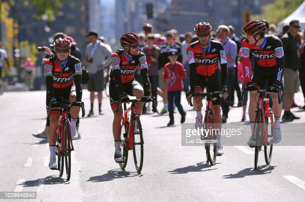 Start / Damiano Caruso of Italy / Simon Gerrans of Australia / Michael Schar of Switzerland / Nathan Van Hooydonck of Belgium / Danilo Wyss of...