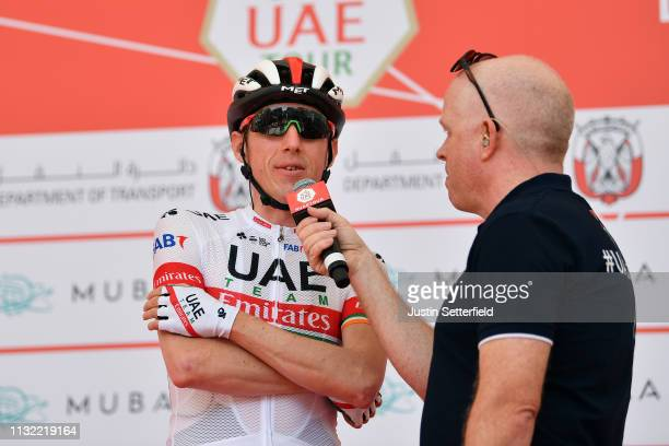 Start / Daniel Martin of Ireland and UAE Team Emirates / during the 5th UAE Tour 2019 Stage 3 a 179km stage from Al Ain to Jebel Hafeet 1024m /...